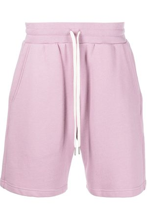 JOHN ELLIOTT Men Sports Shorts - Crimson cottont track shorts