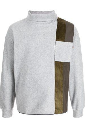 Anglozine Men Turtlenecks - Ride panelled roll-neck jumper - Grey