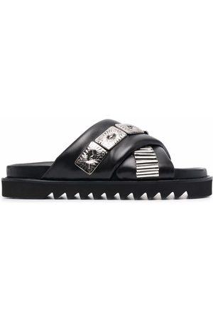 Toga Virilis Men Sandals - Cross-strap embellished sandals