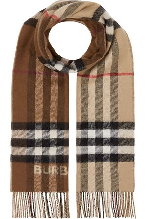 Burberry Scarves - Two-tone checked cashmere scarf