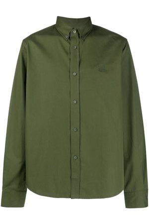 Kenzo Men Long sleeves - Logo-embroidered long-sleeve shirt