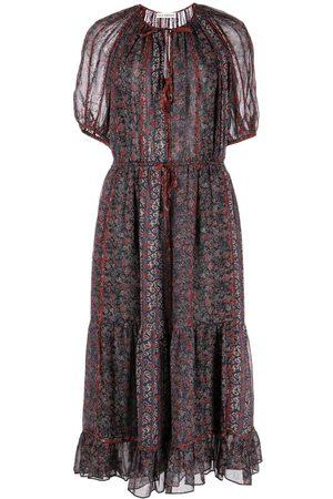 Ulla Johnson Women Midi Dresses - Berenice silk midi dress - Multicolour