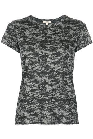 RAG&BONE Women Short Sleeve - Camouflage-print short-sleeved T-shirt - Grey