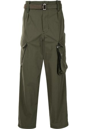 SACAI Men Cargo Pants - Belted cargo trousers