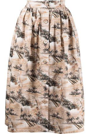 Cara Cara Marge Hawaiian-print cotton skirt - Multicolour