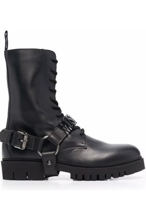Moschino Logo-plaque lace-up boots