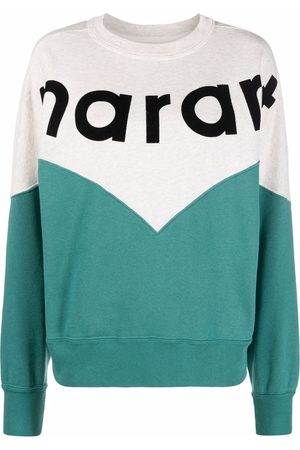 Isabel Marant Women Sweatshirts - Logo-print crew neck sweatshirt