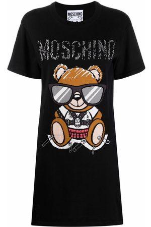Moschino Women T-shirts - Teddy Bear intarsia T-shirt dress