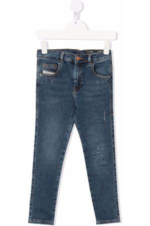 Diesel Kids Mid-rise straight-leg jeans