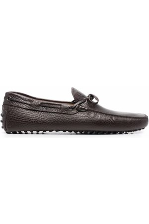Tod's Tie-front leather loafers