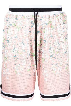 John Elliott Men Sports Shorts - Game floral-print mesh shorts