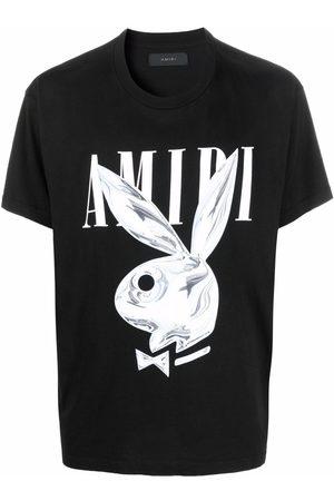 AMIRI Metallic Playboy logo-promo T-shirt