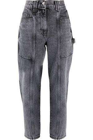 IRO Acid-wash straight trousers - Grey