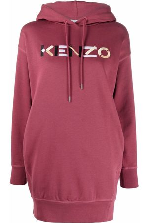 Kenzo Logo drawstring sweatshirt dress