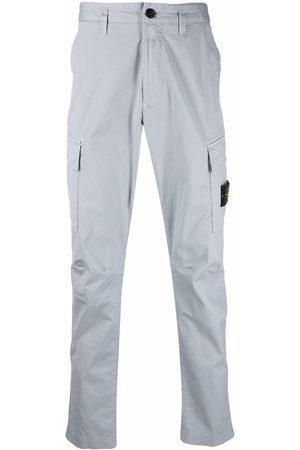 Stone Island Men Cargo Pants - Logo patch cargo trousers - Grey