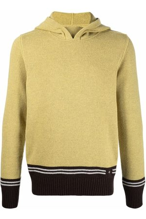 Stone Island Knitted logo hoodie