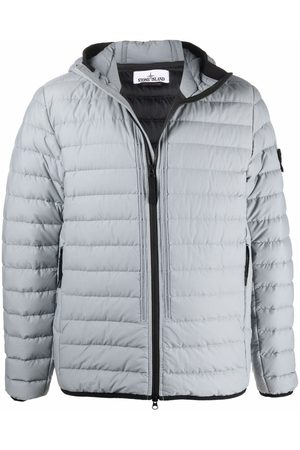 Stone Island Men Puffer Jackets - Logo patch puffer jacket - Grey
