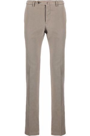PT01 Stretch-cotton slim trousers - Neutrals