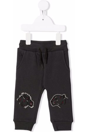 Kenzo Tiger-embroidered track pants - Grey