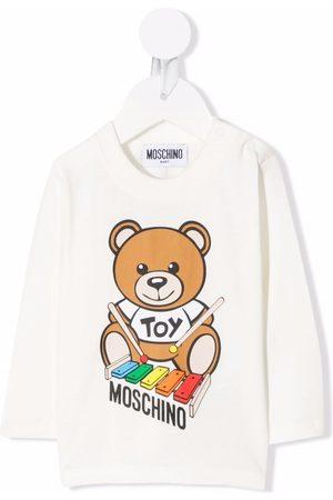 Moschino T-shirts - Teddy bear print T-shirt - Neutrals