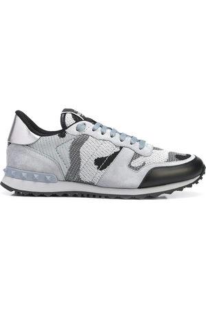 VALENTINO GARAVANI Men Sneakers - Rockstud-embellishment lace-up sneakers - Grey