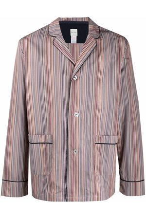 Paul Smith Men Pajamas - Striped drawstring pyjama bottoms - Neutrals