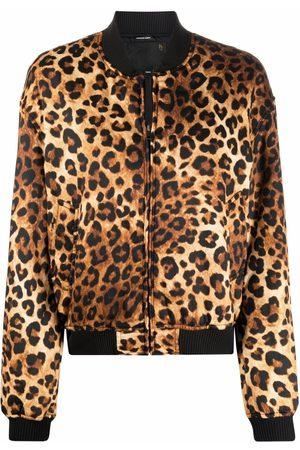 R13 Women Bomber Jackets - Leopard print bomber jacket