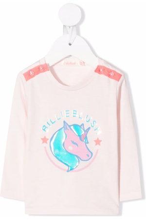 Billieblush Unicorn logo print T-shirt