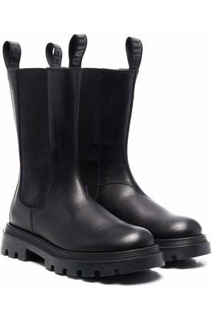 GALLUCCI Round-toe leather boots