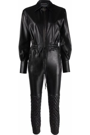 ERMANNO SCERVINO Faux-leather quilted jumpsuit
