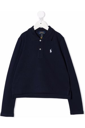 Ralph Lauren Girls Polo Shirts - Logo embroidered polo shirt