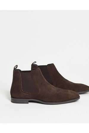 ASOS Men Chelsea Boots - Chelsea boots in suede with black sole