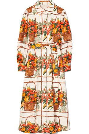 Tory Burch Printed Broderie Anglaise Painter's Dress