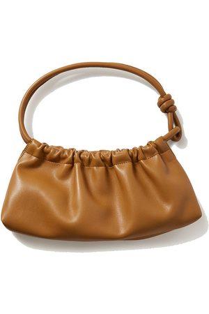 Nanushka Valerie ruched vegan leather shoulder bag