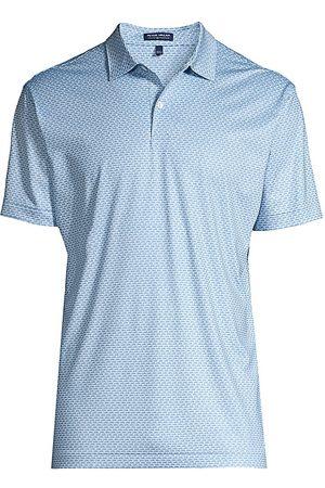 Peter Millar Men Polo Shirts - Men's Blackbird Performance Jersey PoloShirt - Frost - Size XL