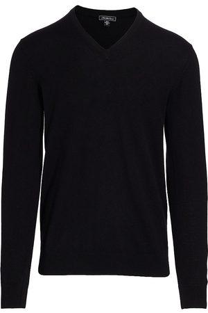 Saks Fifth Avenue Men's V-Neck Cashmere Sweater - - Size XXL