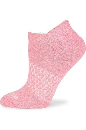 BOMBAS Women's Marl Ankle Socks - Coral - Size Medium