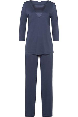 Hanro Women's 2-Piece Eileen Pajama Set - Lava Rock - Size Large