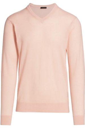 Saks Fifth Avenue Men's V-Neck Cashmere Sweater - - Size XXXL