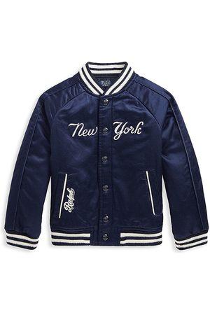 Ralph Lauren Little Boy's & Boy's New York Yankees™ x Baseball Jacket - Navy - Size 14