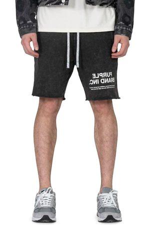 Purple Brand Men Shorts - Men's Acid Wash Logo Shorts - - Size XL