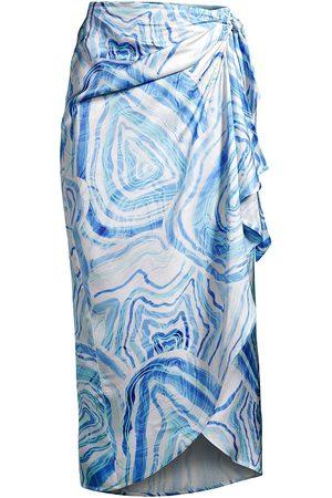 Suboo Women's Agate Drape Wrap Skirt - Multi - Size Small