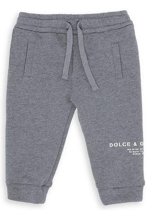 Dolce & Gabbana Baby's Logo Cotton Sweatpants - Grey - Size 6 Months