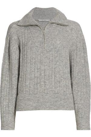 Gestuz Women's AlphaGZ Half-Zip Sweater - Grey - Size Large