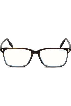 Tom Ford Men Sunglasses - Men's 54MM Block Rectangular Optical Glasses - Havana