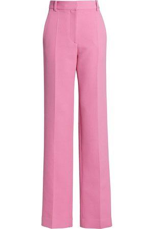 Victoria Beckham Women's Straight Leg Stretch Wool Trousers - Bright - Size 0
