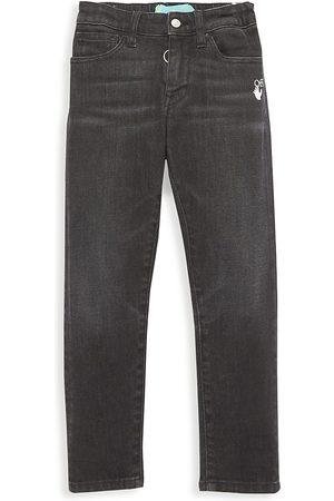 OFF-WHITE Little Boy's & Boy's Slim-Fit Diagonal Graphic Jeans - - Size 4