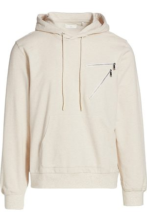 7 for all Mankind Men's Zip Hoodie - Heather Oatmeal - Size Small