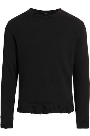 R13 Men's Distressed Crewneck Sweatshirt - Washed - Size Small
