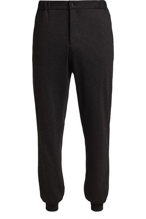 Saks Fifth Avenue Men's COLLECTION Knit Joggers - Charcoal Heather - Size Medium
